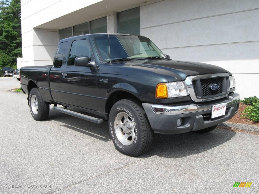 2004 dark green metallic ford ranger xlt supercab 4x4 15632807 car color galleries. Black Bedroom Furniture Sets. Home Design Ideas