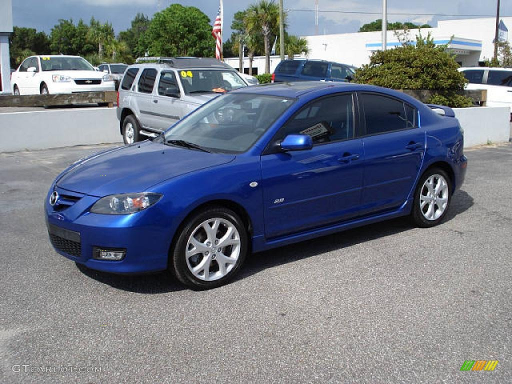 2007 aurora blue mica mazda mazda3 s sport sedan 1529243. Black Bedroom Furniture Sets. Home Design Ideas