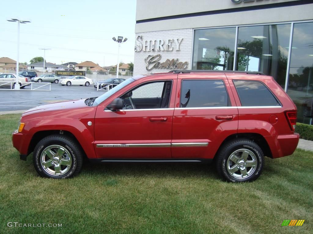 2006 inferno red crystal pearl jeep grand cherokee limited 4x4 15624620 photo 7. Black Bedroom Furniture Sets. Home Design Ideas