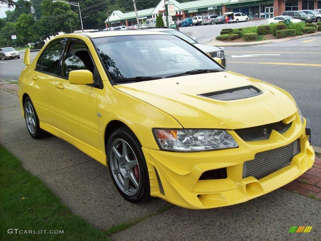 2003 lightning yellow mitsubishi lancer evolution viii 15634155 photo 4 car. Black Bedroom Furniture Sets. Home Design Ideas