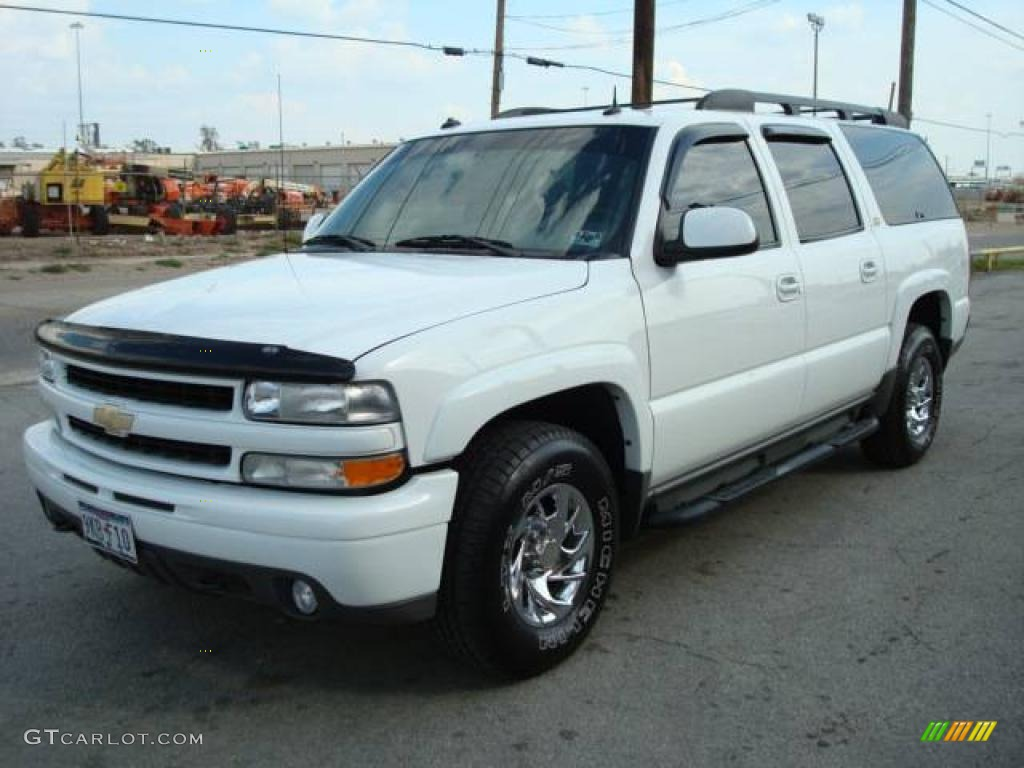 2003 suburban 1500 z71 4x4 summit white gray dark charcoal photo 1