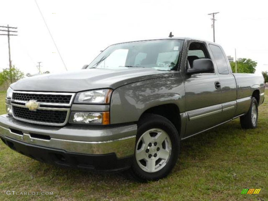 2006 graystone metallic chevrolet silverado 1500 lt extended cab 1532266 car. Black Bedroom Furniture Sets. Home Design Ideas