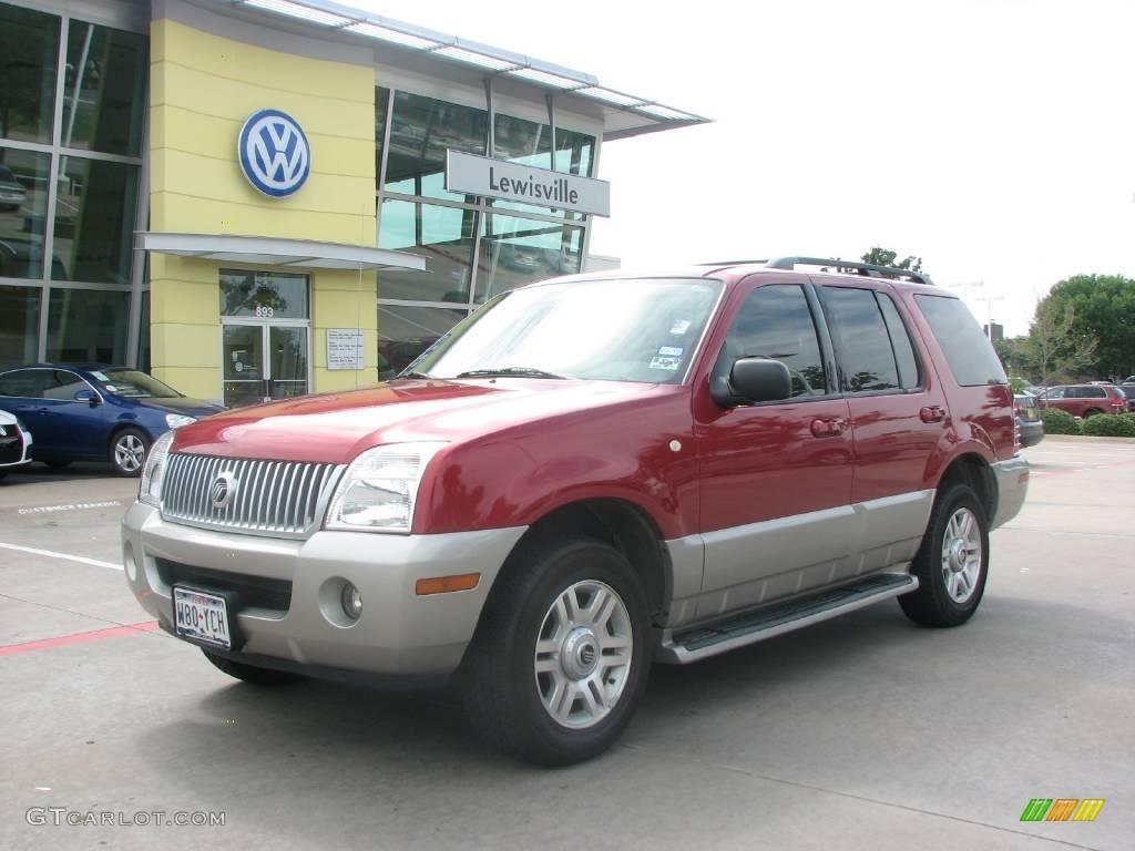 2003 Vivid Red Metallic Mercury Mountaineer Convenience 15716808 Car Color