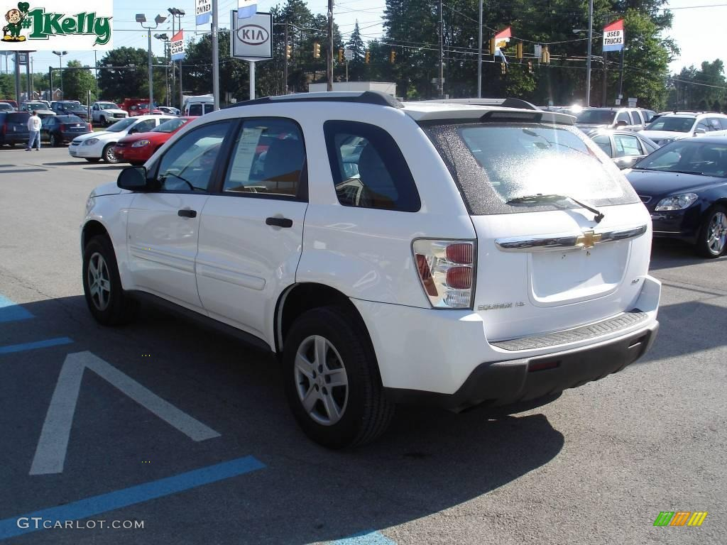 Great 2006 Equinox LS AWD   Summit White / Light Gray Photo #4
