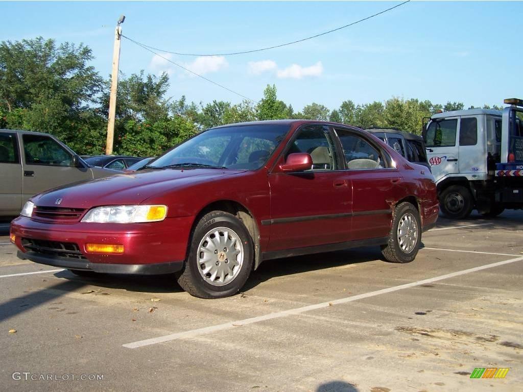 1994 bordeaux red pearl honda accord lx sedan 15712863 photo 3 car color. Black Bedroom Furniture Sets. Home Design Ideas