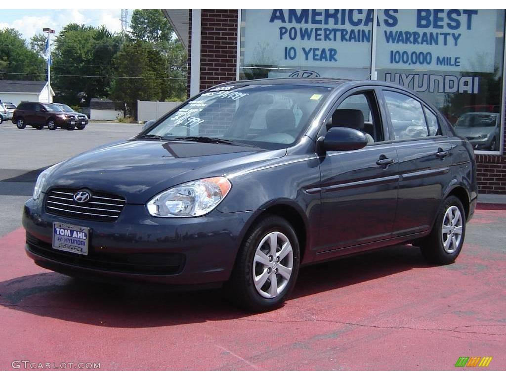 2008 Charcoal Gray Hyundai Accent Gls Sedan 15709640