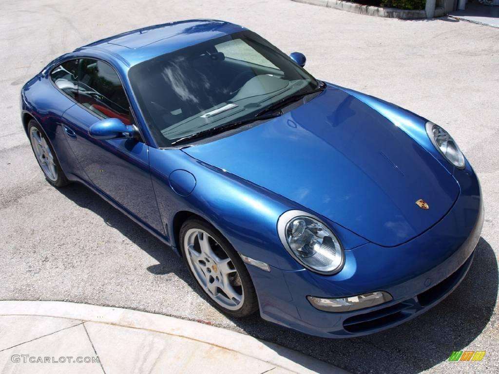 2007 911 Carrera Coupe - Cobalt Blue Metallic / Stone Grey photo #1