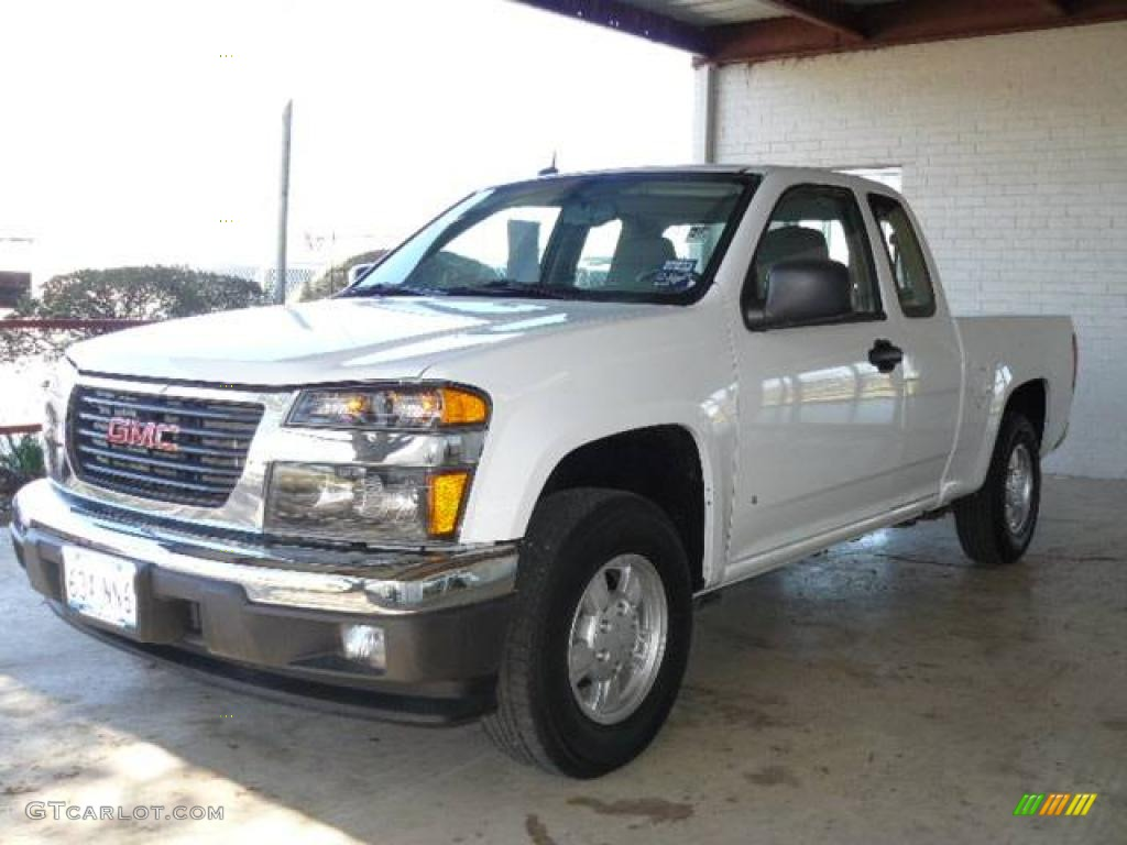 Summit white gmc canyon gmc canyon sl extended cab