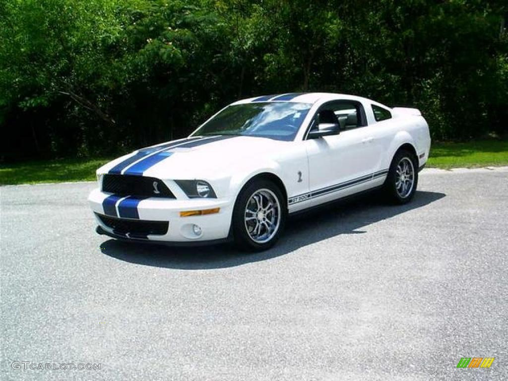 2007 Mustang Shelby GT500 Coupe - Performance White / Black Leather photo #1