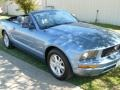 2007 Windveil Blue Metallic Ford Mustang V6 Deluxe Convertible  photo #22