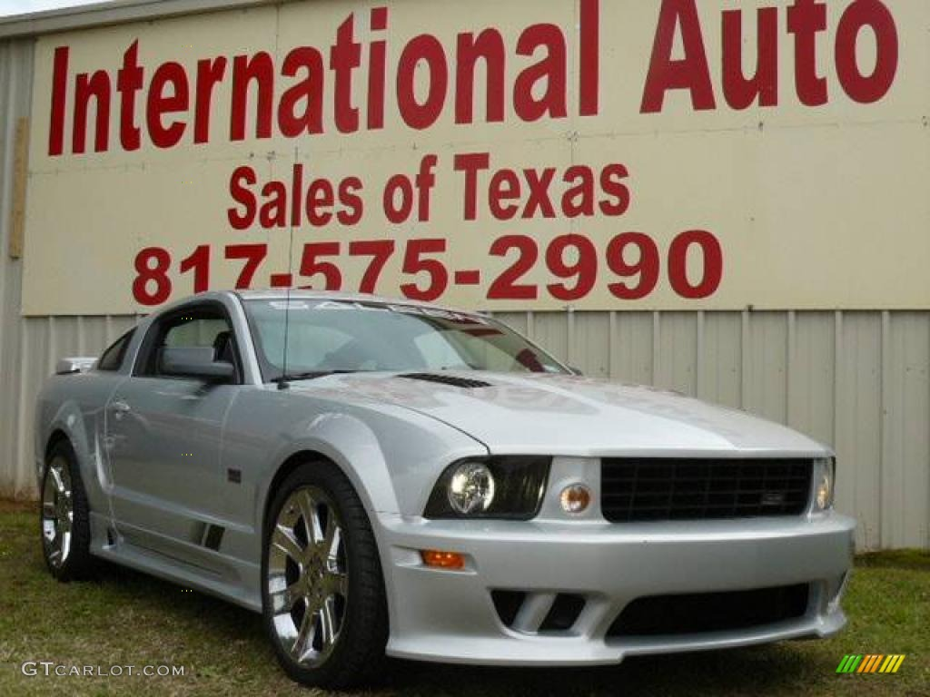 2007 Mustang Saleen S281 Supercharged Coupe - Satin Silver Metallic / Dark Charcoal photo #1