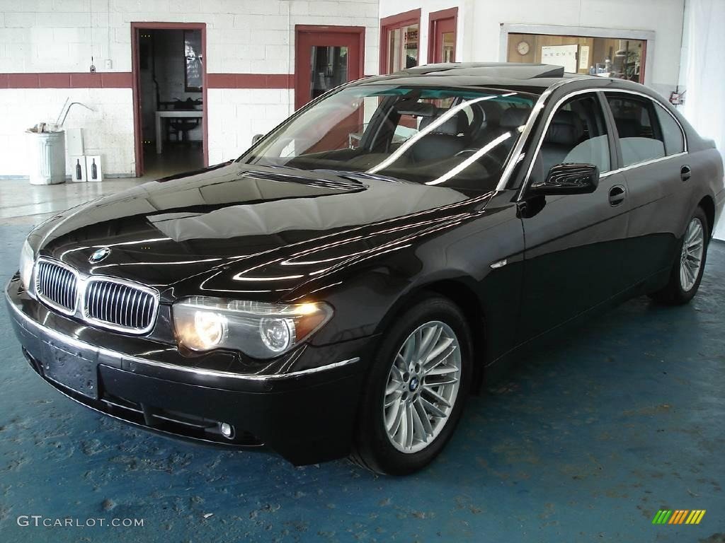 2004 black sapphire metallic bmw 7 series 745li sedan. Black Bedroom Furniture Sets. Home Design Ideas