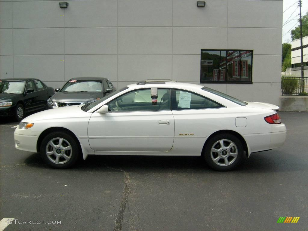 2001 White Diamond Pearl Toyota Solara Sle V6 Coupe