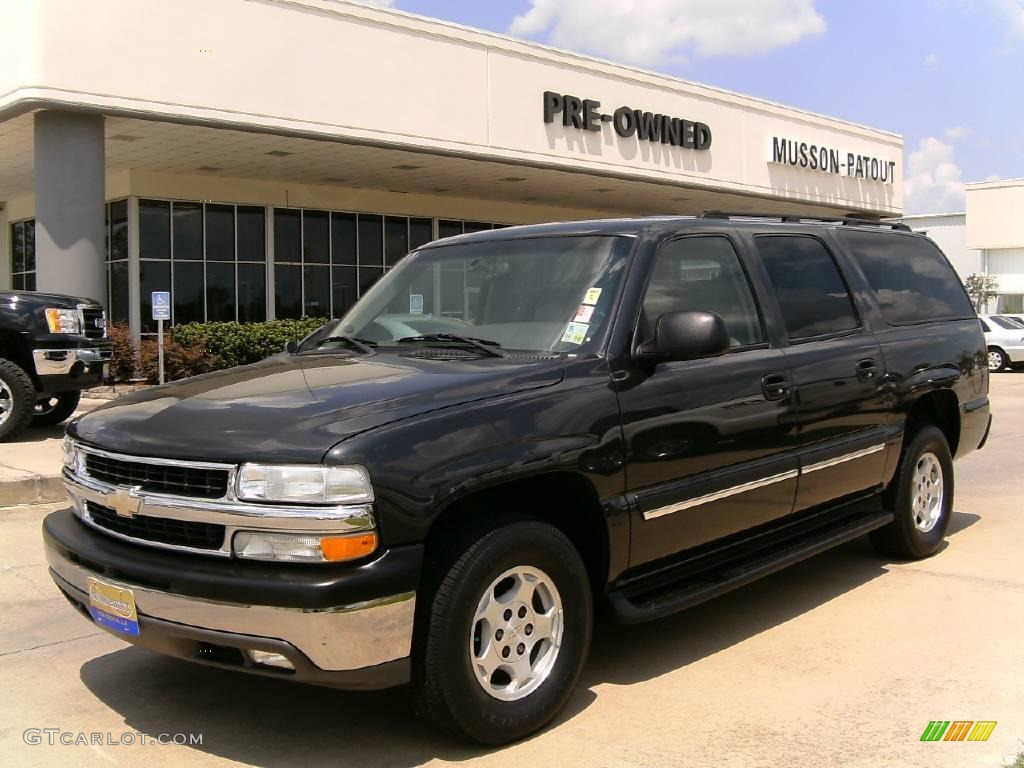 2004 dark gray metallic chevrolet suburban 1500 lt. Black Bedroom Furniture Sets. Home Design Ideas