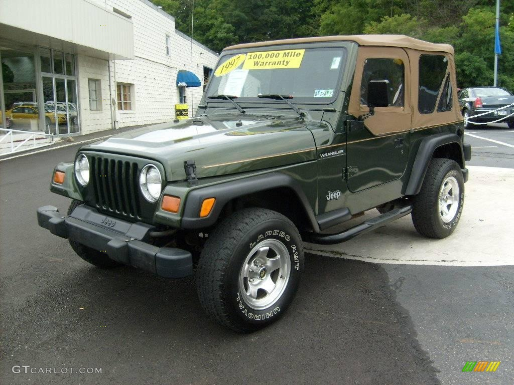 1997 Moss Green Pearl Jeep Wrangler Se 4x4 15812955