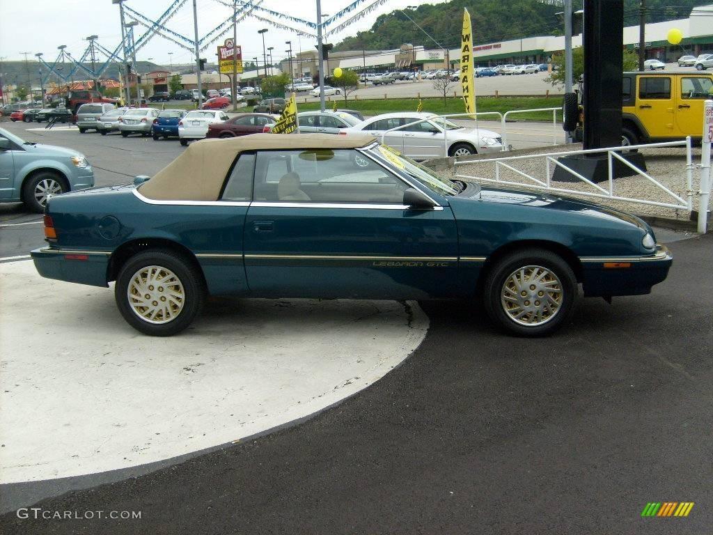 1995 lebaron gtc convertible spruce pearl beige photo 6