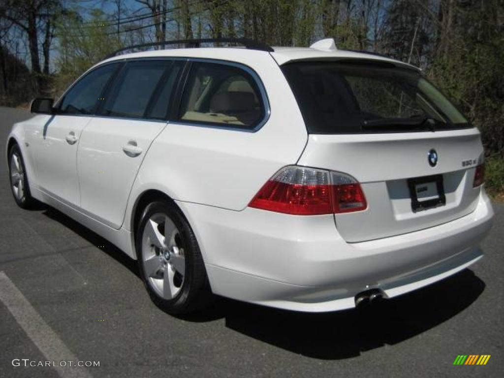 2006 5 series 530xi wagon alpine white beige photo 5