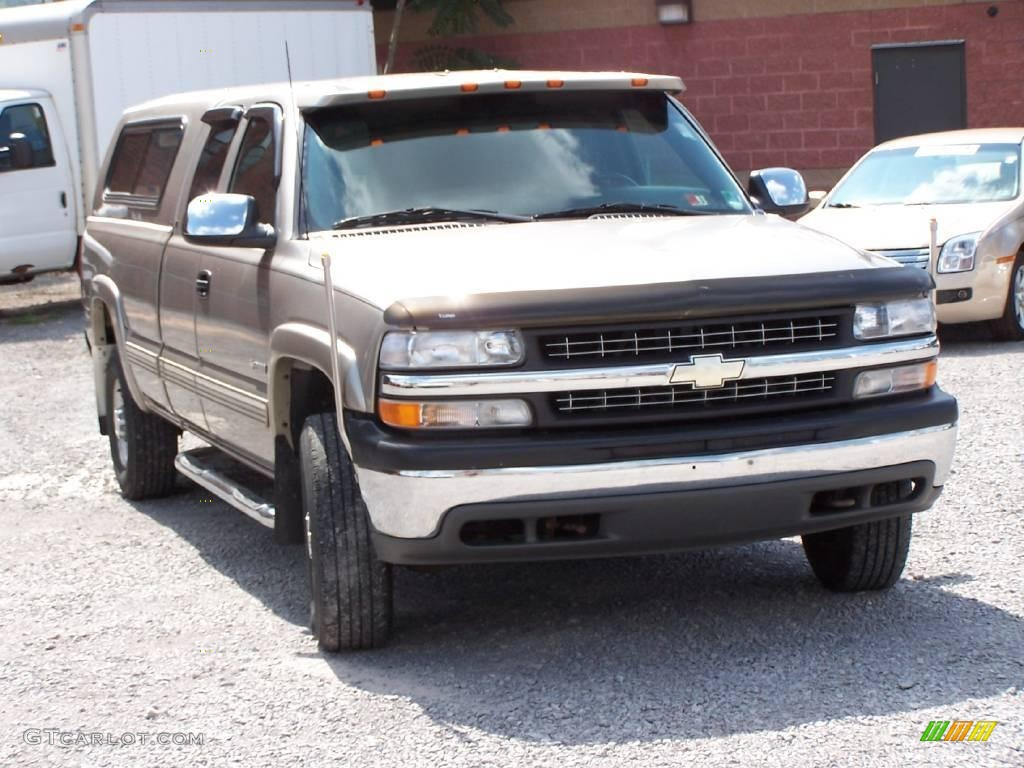 2000 light pewter metallic chevrolet silverado 2500 ls extended cab 4x4 15870449 photo 4. Black Bedroom Furniture Sets. Home Design Ideas
