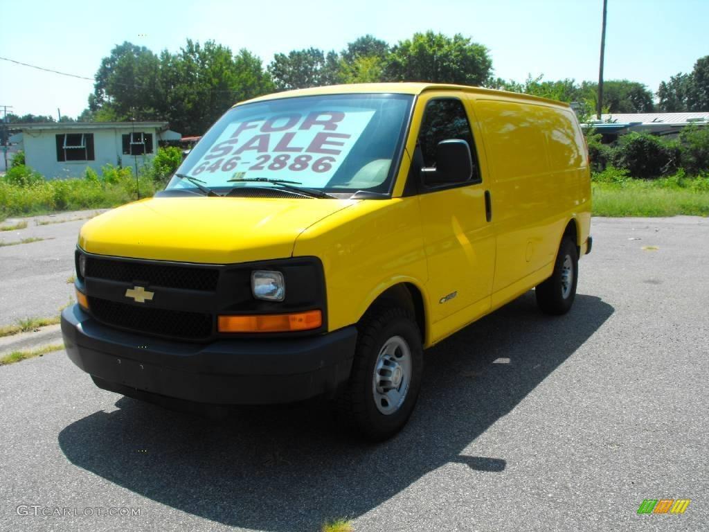 2006 Yellow Chevrolet Express 2500 Commercial Van 15862389