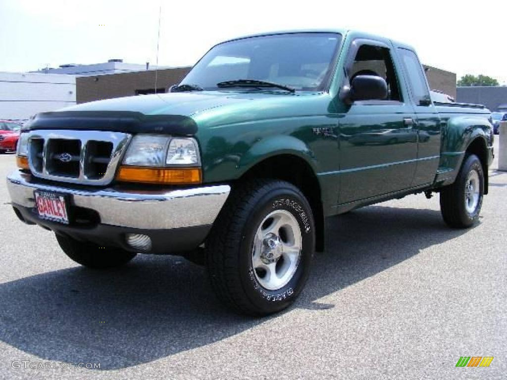 2000 amazon green metallic ford ranger xlt supercab 4x4. Black Bedroom Furniture Sets. Home Design Ideas
