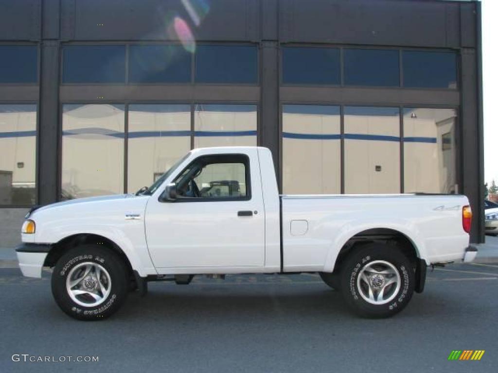 Classic white mazda b series truck