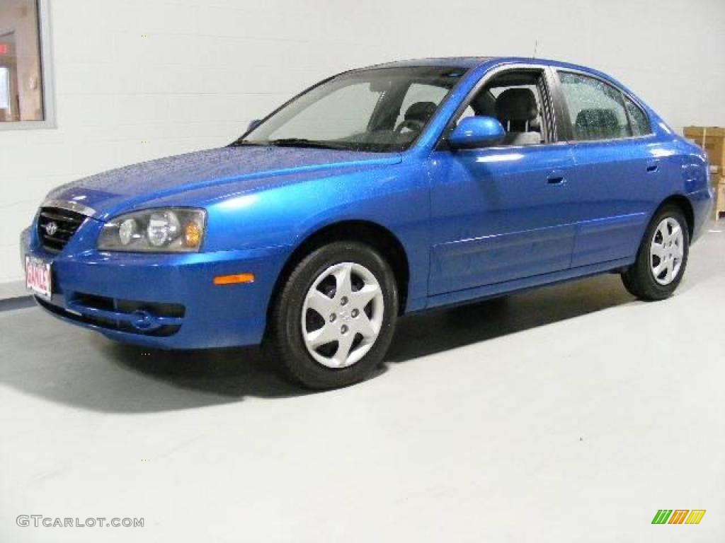 2004 tidal wave blue hyundai elantra gls sedan 15869927. Black Bedroom Furniture Sets. Home Design Ideas