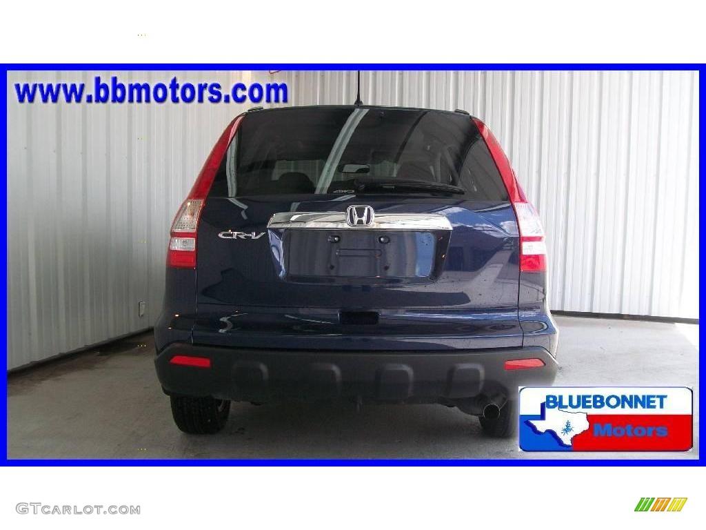 2008 CR-V EX 4WD - Royal Blue Pearl / Black photo #4