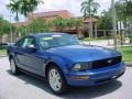 2007 Vista Blue Metallic Ford Mustang V6 Premium Coupe  photo #1