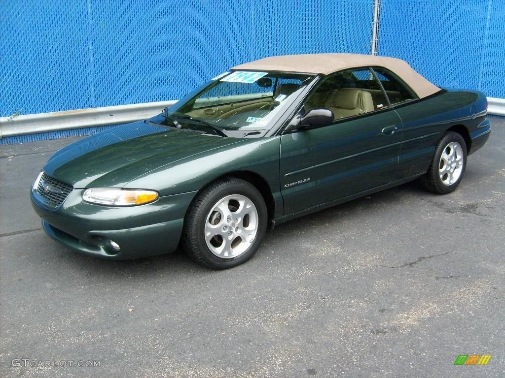 2000 Sebring Jxi Convertible Shale Green Metallic Camel Photo 1