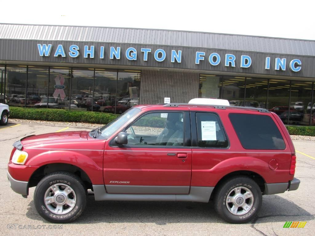 2001 ford explorer sport 4x4 toreador red metallic color dark. Cars Review. Best American Auto & Cars Review