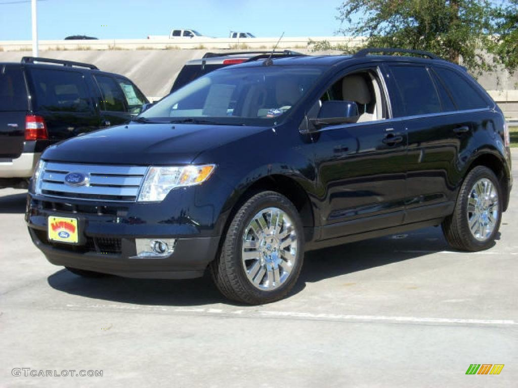 2008 Dark Ink Blue Metallic Ford Edge Limited #1533656 | GTCarLot.com - Car Color Galleries