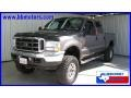 2004 Dark Shadow Grey Metallic Ford F250 Super Duty Lariat Crew Cab 4x4  photo #1