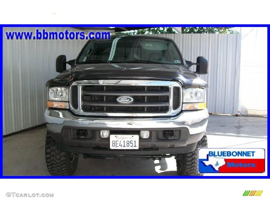 2004 F250 Super Duty Lariat Crew Cab 4x4 - Dark Shadow Grey Metallic / Medium Flint photo #2