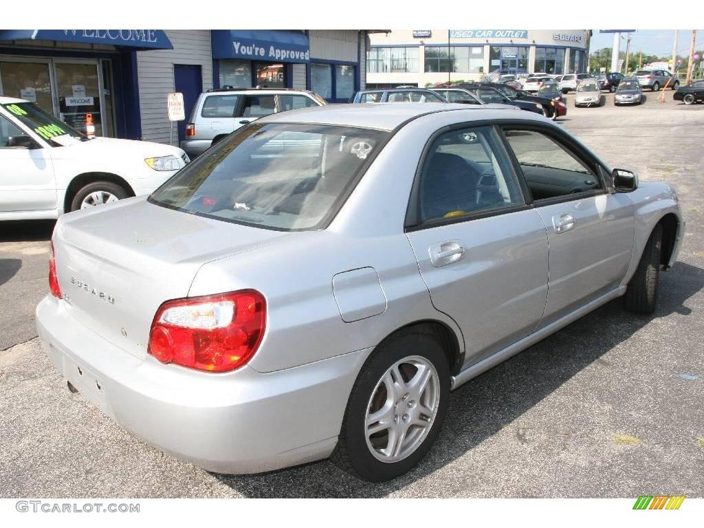 2004 Platinum Silver Metallic Subaru Impreza 2 5 Rs Sedan