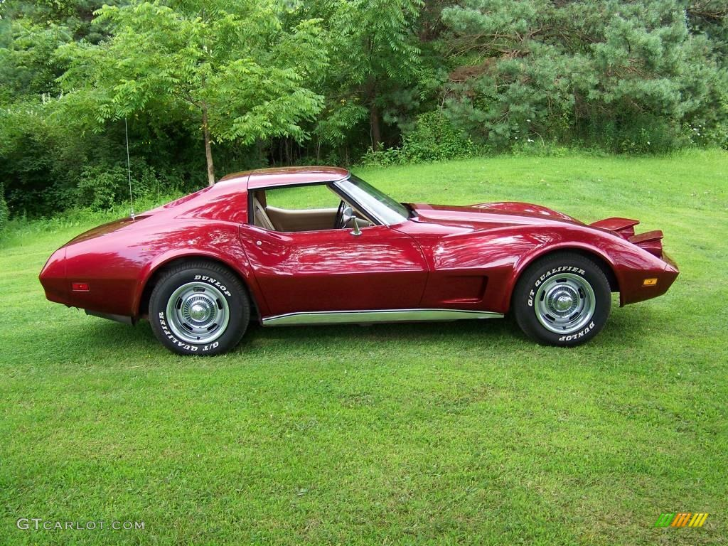 What Are Neutral Colours 1974 Medium Red Metallic Chevrolet Corvette Stingray Coupe