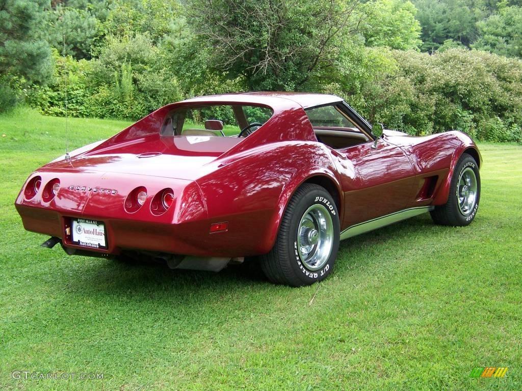 1974 Medium Red Metallic Chevrolet Corvette Stingray Coupe