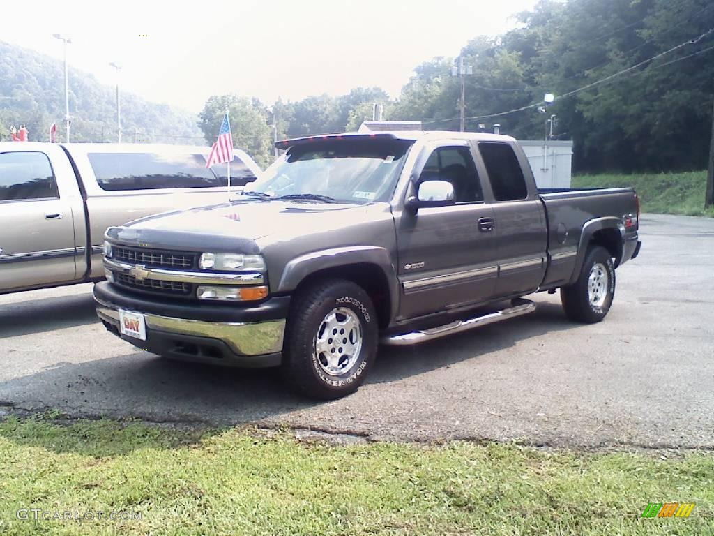 2000 charcoal gray metallic chevrolet silverado 1500 z71 extended cab 4x4 16016772 gtcarlot. Black Bedroom Furniture Sets. Home Design Ideas