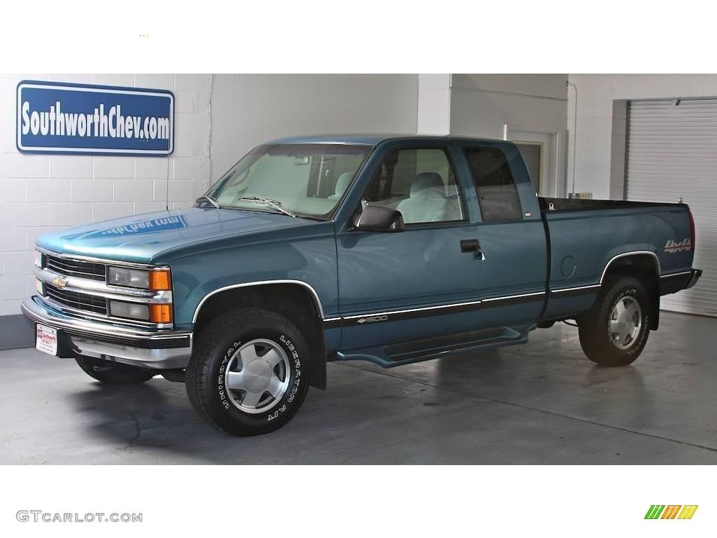 1998 Medium BlueGreen Metallic Chevrolet CK K1500 Extended Cab