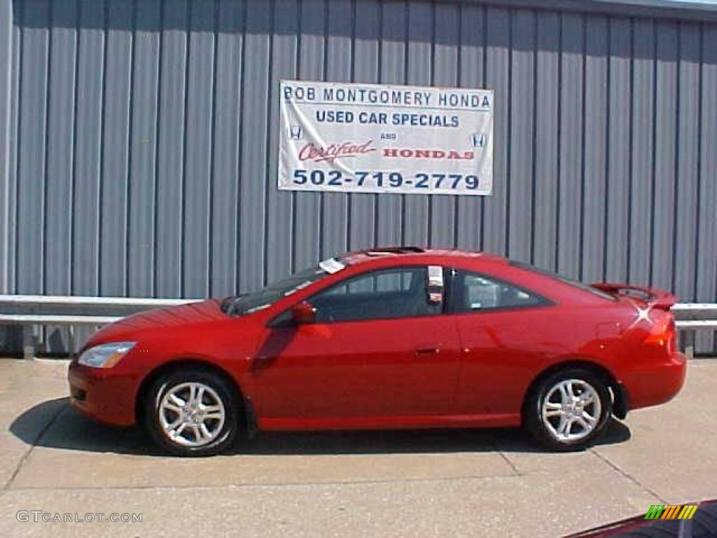 Honda 2006 honda coupe : 2006 San Marino Red Honda Accord EX Coupe #16032910 | GTCarLot.com ...