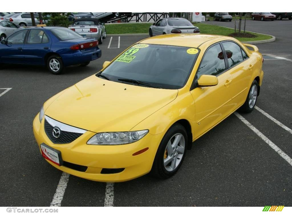 2003 speed yellow mazda mazda6 s sedan 16029335 photo 4 car color galleries. Black Bedroom Furniture Sets. Home Design Ideas