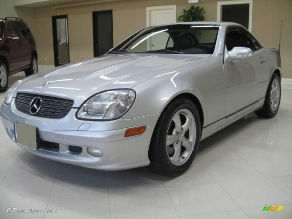 2001 SLK 320 Roadster - Brilliant Silver Metallic / Charcoal Black photo #1