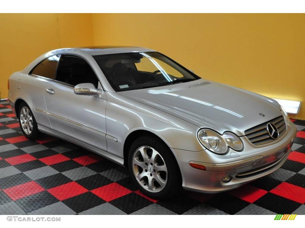 2003 brilliant silver metallic mercedes benz clk 320 coupe for 2003 mercedes benz clk 320