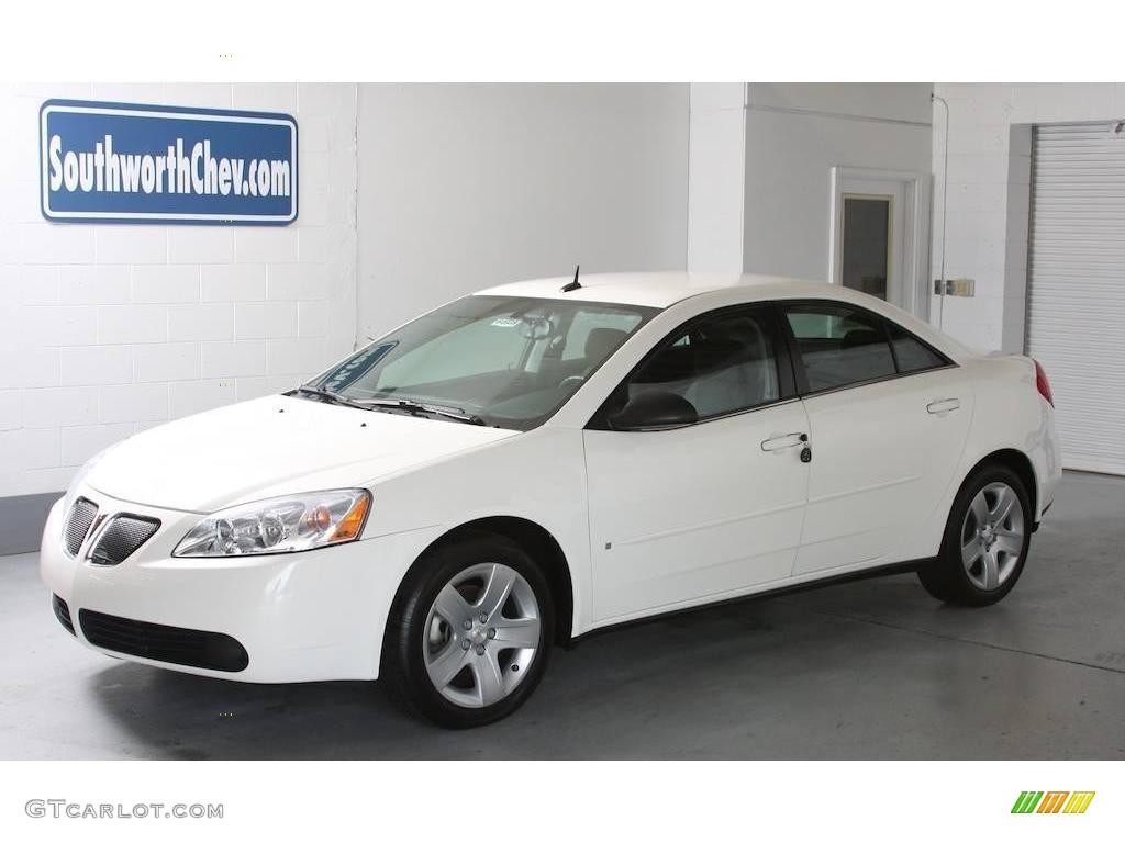 2008 Ivory White Pontiac G6 Sedan 16033525 Gtcarlot Com