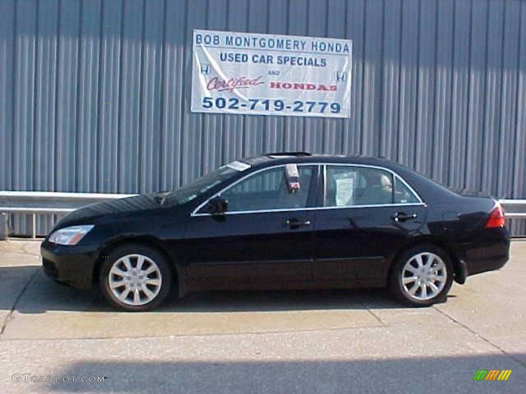 2006 Accord Ex L V6 Sedan Nighthawk Black Pearl Ivory Photo 1
