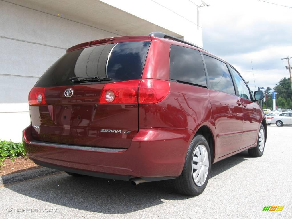 2008 salsa red pearl toyota sienna le 16030107 photo 3. Black Bedroom Furniture Sets. Home Design Ideas