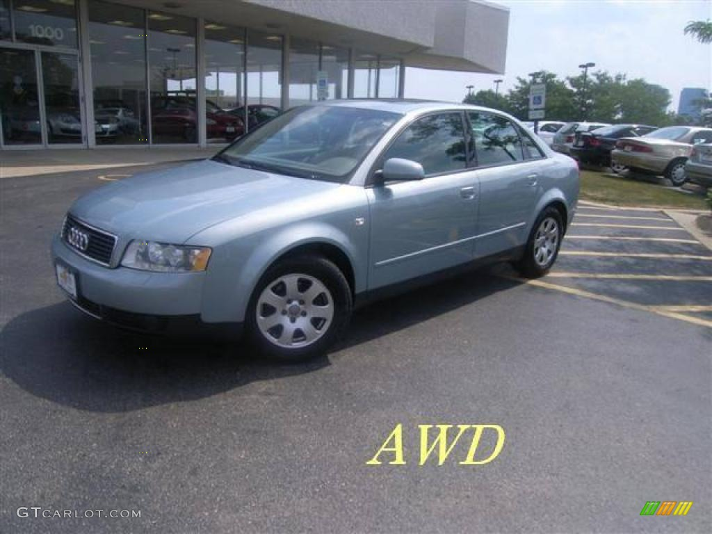 2002 crystal blue metallic audi a4 1 8t quattro sedan 16133801 car color galleries. Black Bedroom Furniture Sets. Home Design Ideas