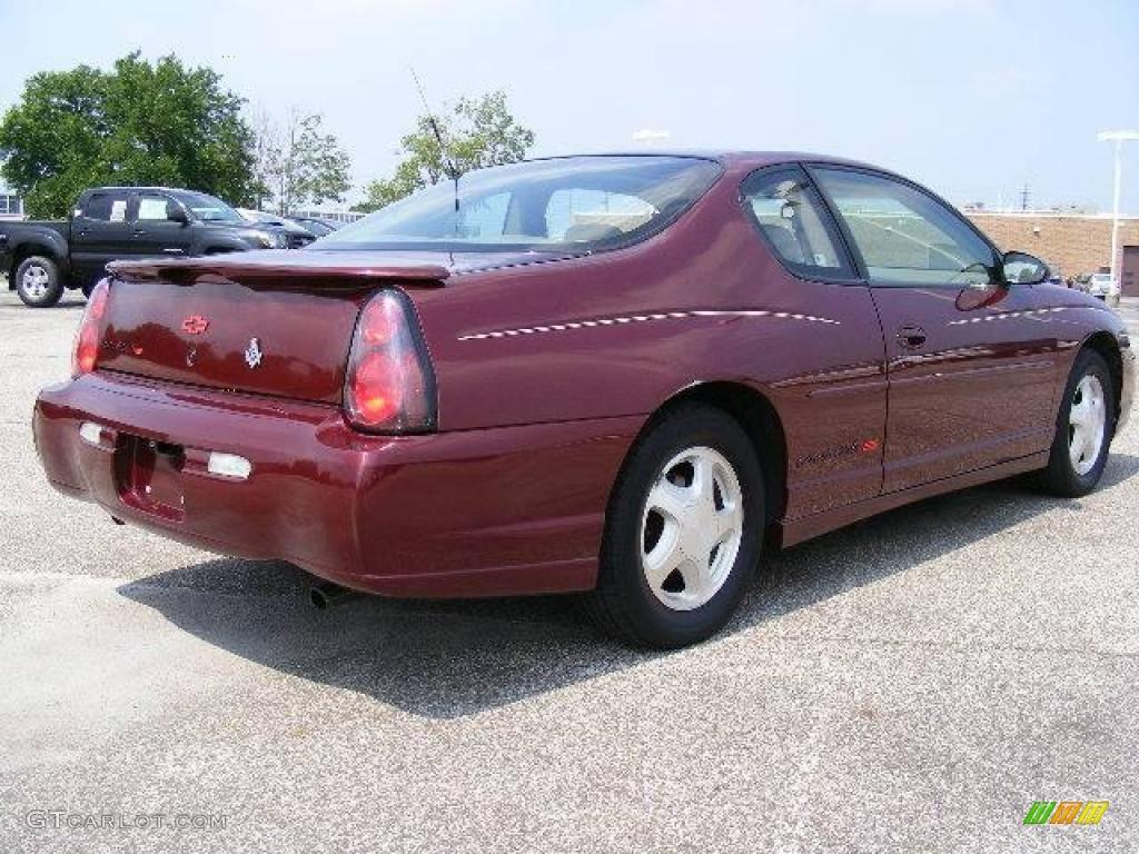 2002 dark carmine red metallic chevrolet monte carlo ss 16094616 photo 3 car. Black Bedroom Furniture Sets. Home Design Ideas