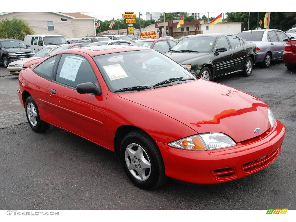 2002 chevrolet cavalier coupe bright red color graphite interior. Cars Review. Best American Auto & Cars Review