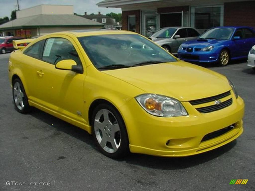 rally yellow 2006 chevrolet cobalt ss supercharged coupe. Black Bedroom Furniture Sets. Home Design Ideas