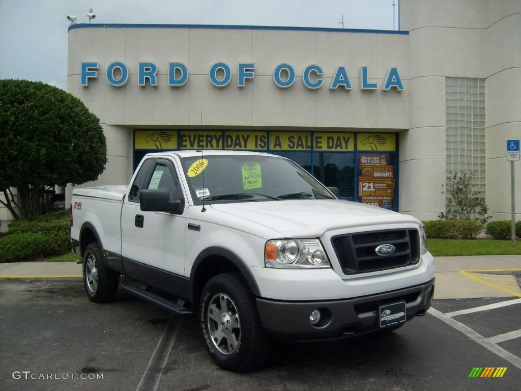 2006 Oxford White Ford F150 Fx4 Regular Cab 4x4 16101078 Gtcarlot Com Car Color Galleries